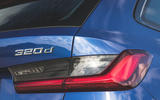 BMW 3 Series Touring 320d 2019 UK first drive review - rear lights