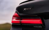 BMW 5 Series M550i 2020 UK first drive - rear lights