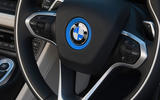 BMW i8 Coupe 2018 UK first drive review steering wheel