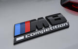 BMW M8 Gran Coupe 2020 UK first drive review - rear badge