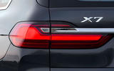 BMW X7 2019 first drive review - rear lights