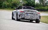 BMW Z4 prototype drive 2018 cornering rear