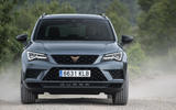 Cupra Ateca 2018 prototype first drive review dust trail front