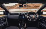 6 Dacia Duster diesel 4x4 2021 UK first drive review dashboard
