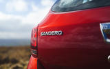 Dacia Sandero Stepway Techroad 2019 first drive review - rear badge