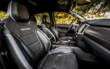 Ford Ranger Raptor 2019 first drive review - front seats