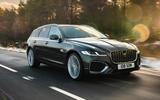 6 jaguar xf sportbrake p250 2021 uk review hero front