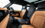 Land Rover Defender 90 P400 X 2020 UK first drive review - cabin