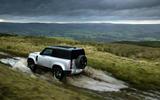 6 Land Rover Defender 90 D250 2021 UK first drive review splash
