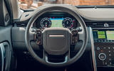 Land Rover Discovery Sport 2019 first drive review - steering wheel