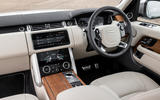 Land Rover Range Rover D350 mild hybrid 2020 UK first drive review - dashboard