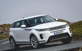 Land Rover Range Rover Evoque P200 2019 UK first drive review - cornering front
