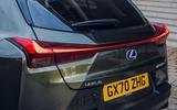 6 Lexus UX300e 2021 UK first drive review rear lights