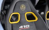 Lotus Exige Sport 410 2018 review seats