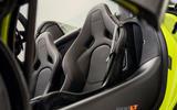 McLaren 600LT Spider 2019 first drive review - seats
