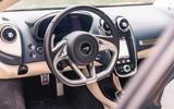 McLaren GT 2019 UK first drive review - steering wheel