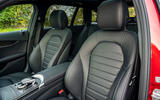 Mercedes-Benz C300e 2020 UK first drive review - front seats