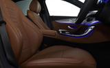 Mercedes-Benz E-Class E300de 2019 UK first drive review - front seats