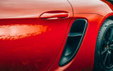 Porsche 718 Boxster GTS 4.0 2020 UK first drive review - air intake