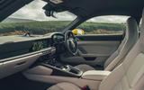 Porsche 911 Carrera 4S 2019 UK first drive review - cabin