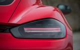 Porsche Cayman T 2019 first drive review - rear lights