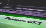Porsche Panamera GTS 2019 UK first drive review - rear badge