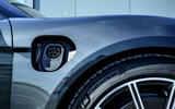 Porsche Taycan Turbo 2020 UK first drive review - charging port