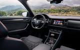 Skoda Kodiaq vRS 2018 first drive review - cabin
