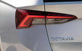 Skoda Octavia estate 2020 UK first drive review - rear lights