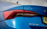 Skoda Octavia hatchback 2020 UK first drive review - rear lights