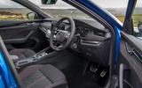 Skoda Octavia vRS TDI 2021 UK first drive review - cabin