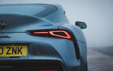 6 Toyota GR Supra 2 litre 2021 UK first drive review rear lights