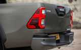 Toyota Hilux Invincible X 2020 UK first drive review - rear lights