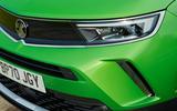 6 Vauxhall Mokka e 2021 UK first drive review headlights