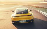 2019 Porsche 911 Carrera S track drive - track rear end