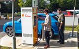 Testers charging Audi