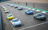 Alpines lined up