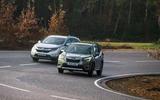 Hybrid mega-test - Subaru and Honda