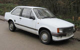 Vauxhall Nova Merit saloon 1989 - stationary front