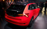 Skoda Scala official reveal stage rear angle