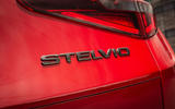 Alfa Romeo Stelvio Sprint 2020 UK first drive review - rear badge