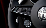 Alfa Romeo Stelvio Ti 2019 first drive review - steering wheel buttons