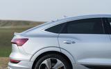 Audi E-tron Sportback 55 2020 UK first drive review - rear quarter