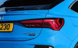 Audi Q3 Sportback 2019 UK first drive review - rear lights