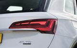 Audi Q5 40 TDI Sport 2020 UK first drive review - rear lights