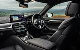 BMW 5 Series M550i 2020 UK first drive - cabin