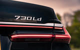 BMW 7 Series 730Ld 2019 UK first drive review - rear badge