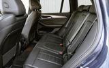 BMW X3 xDrive30e 2020 UK first drive review - rear seats