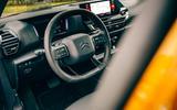 Citroen C4 Puretech 2021 UK (LHD) first drive review - dashboard