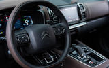 Citroen C5 Aircross 2018 first drive review - steering wheel